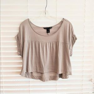 Marc by Marc Jacobs Taupe Crop Top